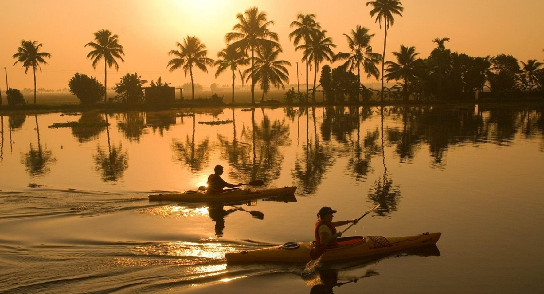 Canoe Ride in Kerala