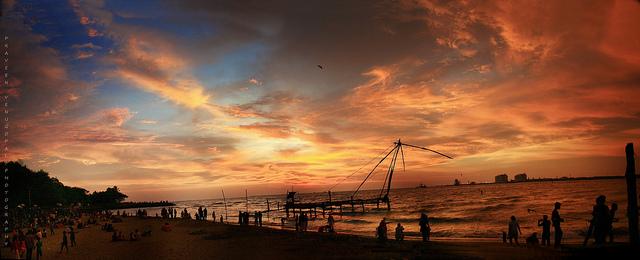 evening beach view