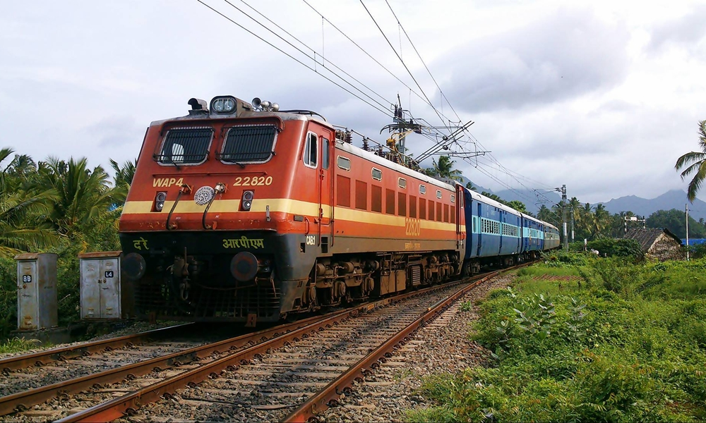 An Indian Train en route its journey