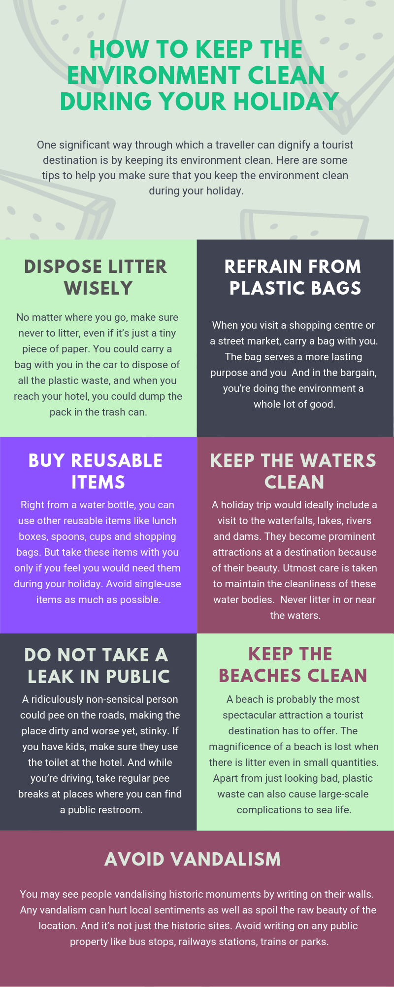 tips to keep the environment clean
