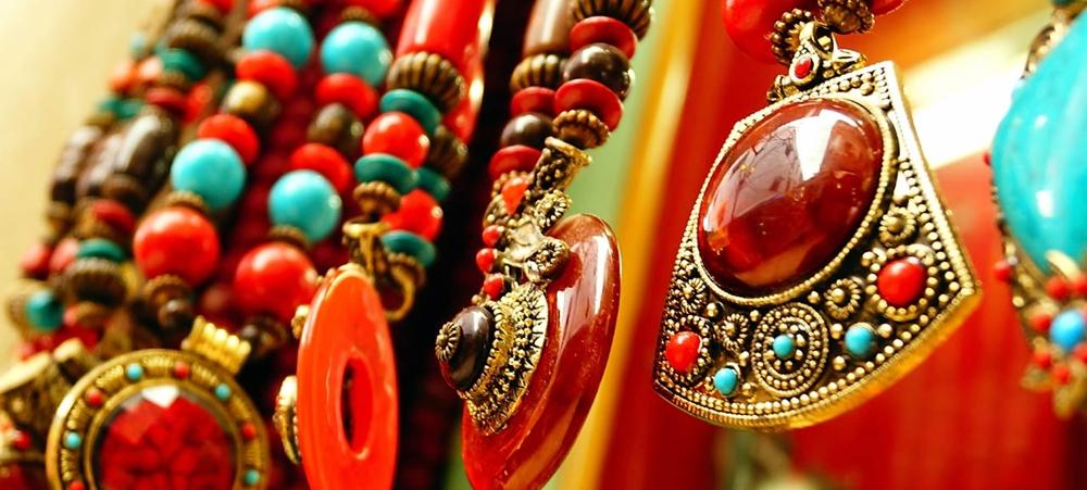 Kerala shop selling colorful earrings