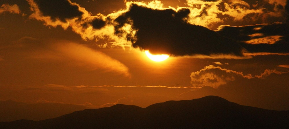 Clouds in Thekkady during sunset