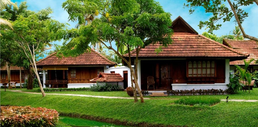 An exterior view of Kumarakom Lake Resort