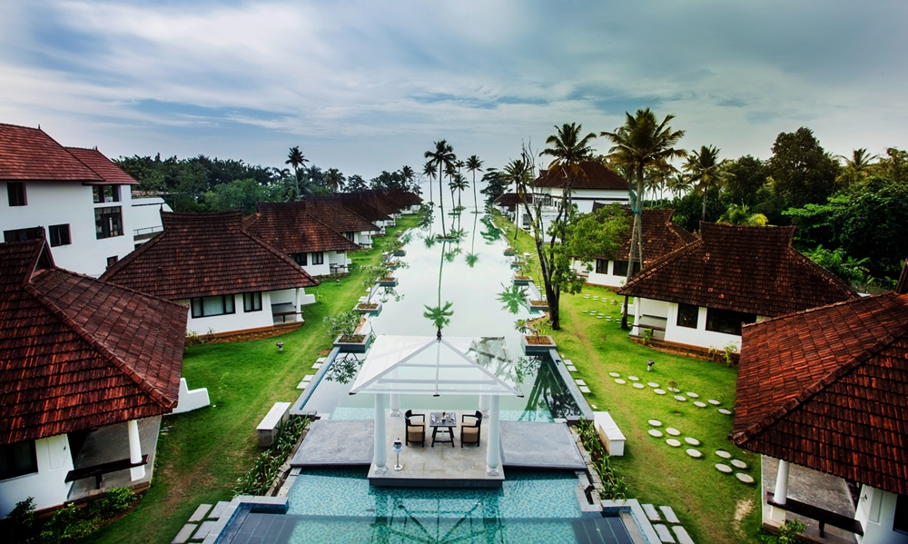 The 150-metre long infinity pool at Aveda