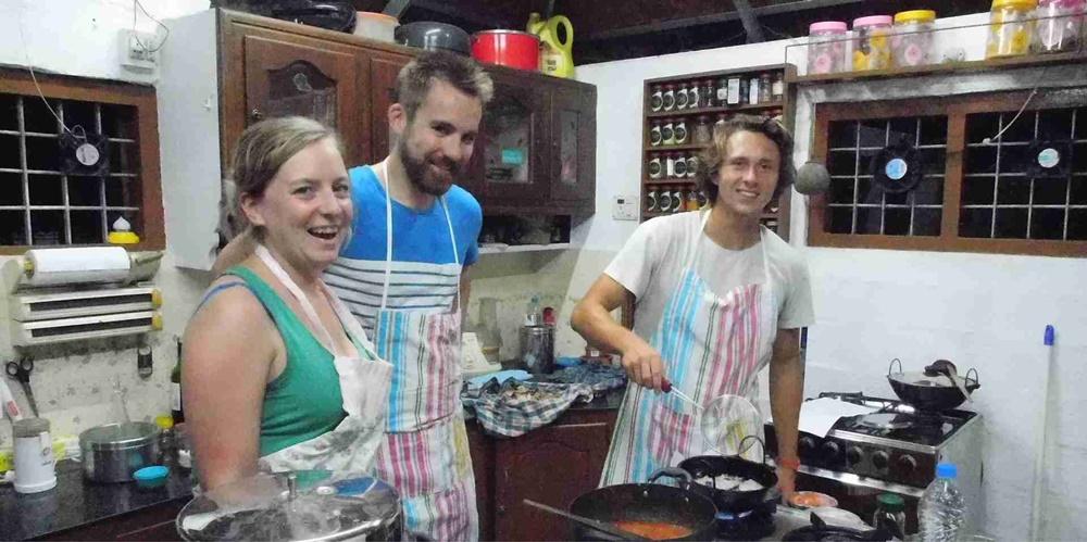 Cooking class in progress