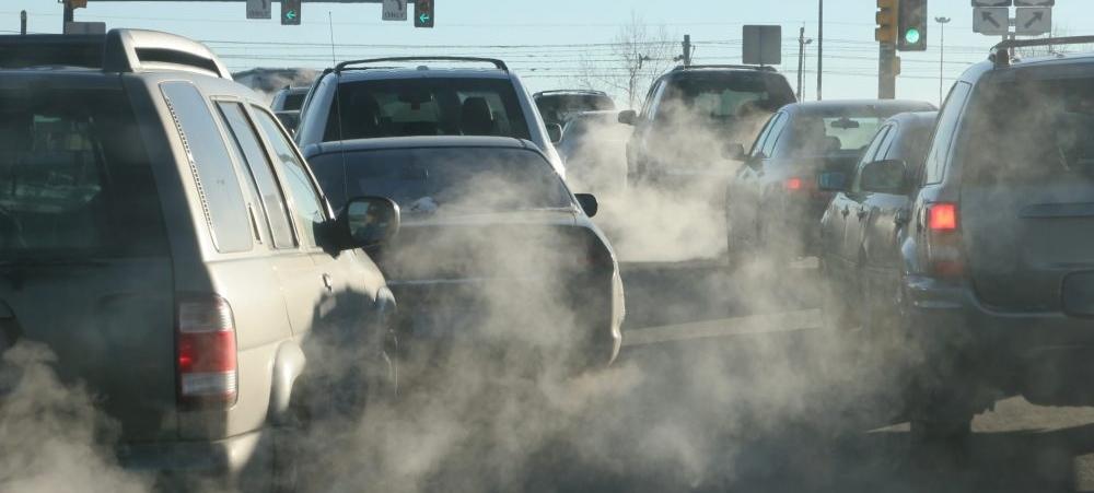 Cars emitting CO2