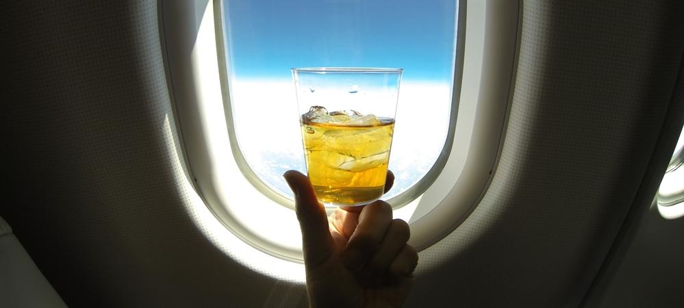 Alcohol in flight
