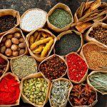 A variety of spices from Kerala