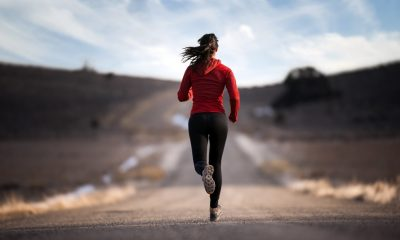 Woman on her morning jog