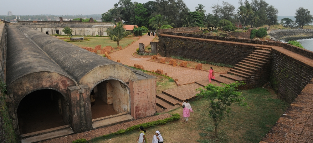 A panoramic view of Kannur Fort