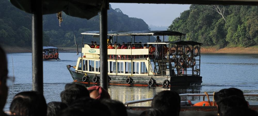 Boat ride in the scenic Periyar Lake
