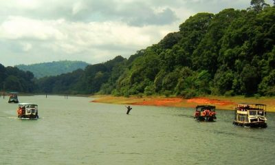 Boating in Thekkady's Periyar Lake