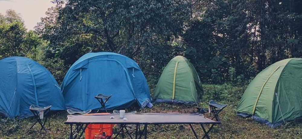 Sturdy tents set up for camping
