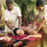 Women enjoying an ayurvedic massage