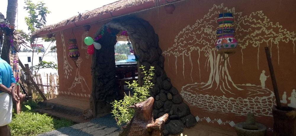 A village style restaurant in Wayanad