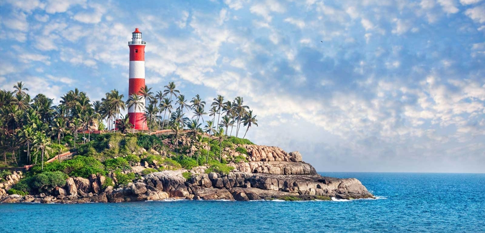 The lighthouse at the Kovalam Beach