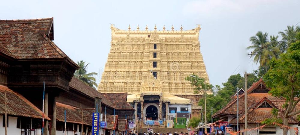 The exterior view of Padmanavhaswamy Temple