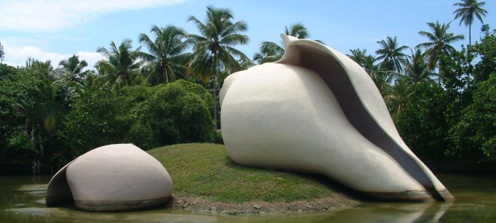 The beautiful sculptures at Veli Tourist Village