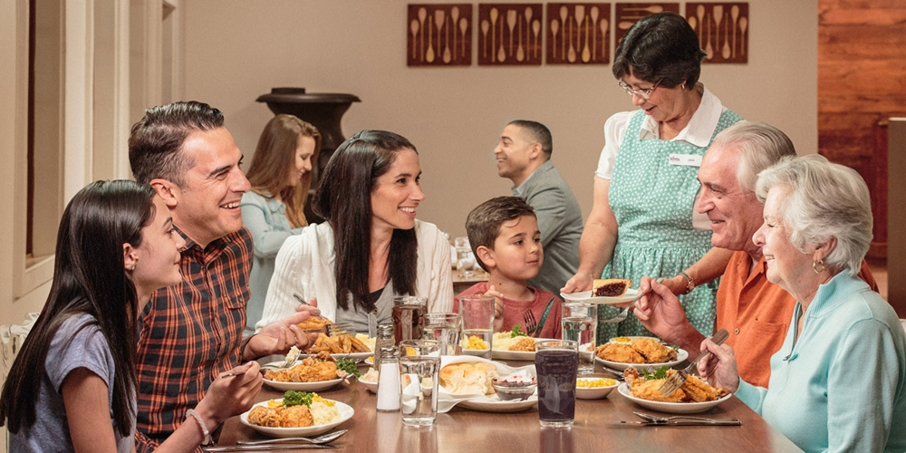 Family having lunch at a restaurant
