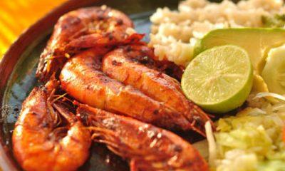 Seafood with lemon