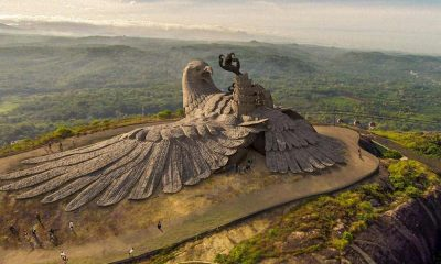 Bird sculpture at Jatayu Earth Center