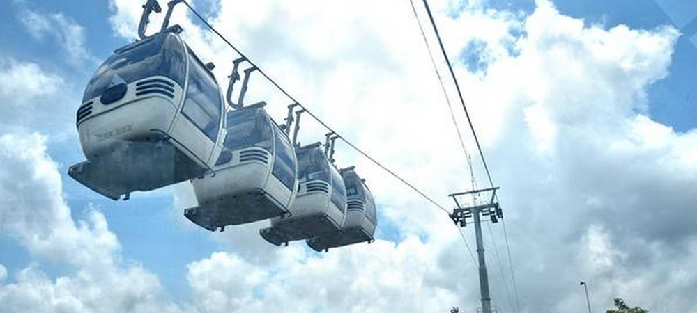 Cable car to reach Jatayu Earth Center