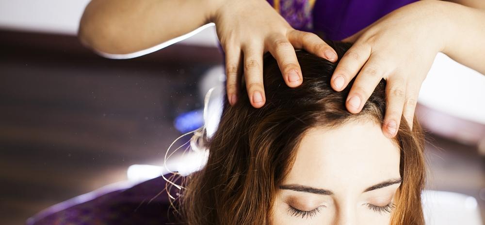 Oil massage for hair