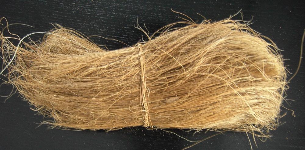 A bundle of coconut fibre