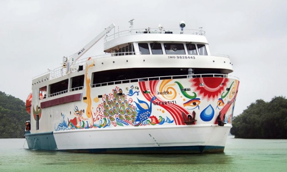 Nefertiti Cruise on the sea