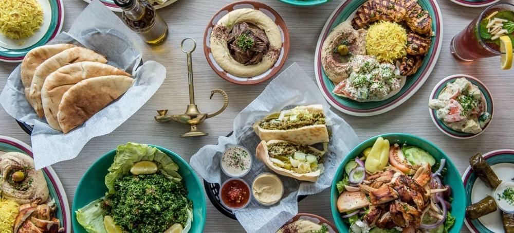A lavish spread of the Mediterranean Cuisine