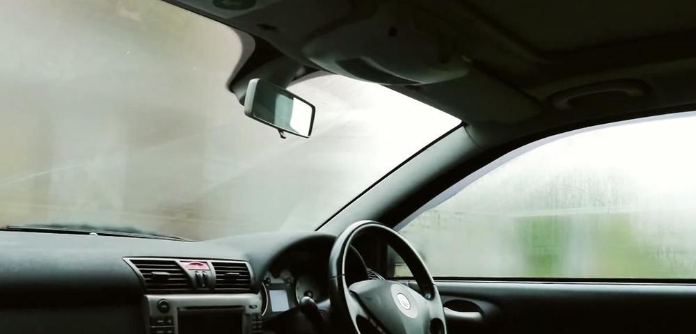 Fog on car window