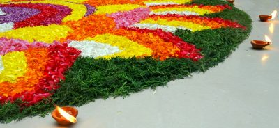 Flower Carpet during Onam