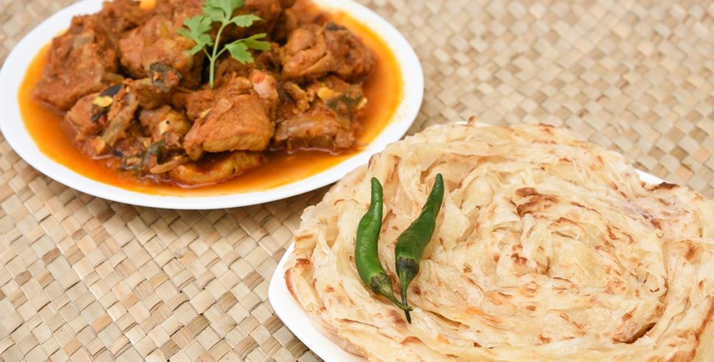 Kerala Parotta with Chicken Curry