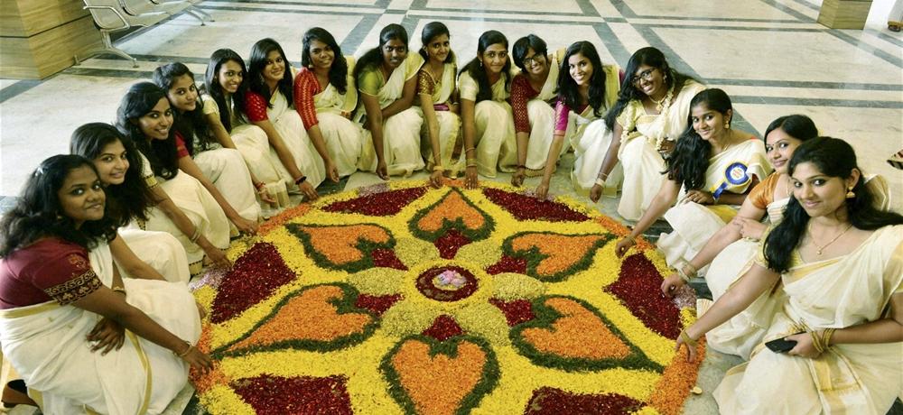 Kerala women celebrating Onam