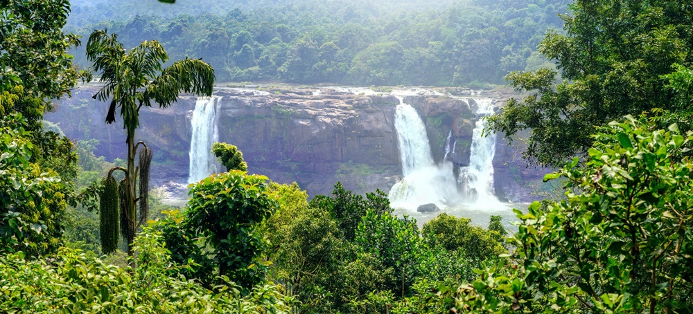 Athirapally falls in December
