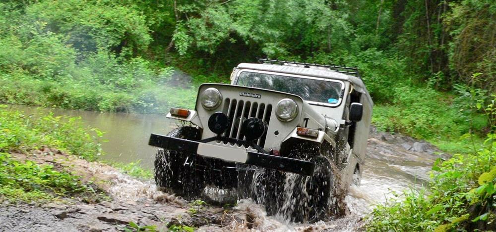 Jeep safari in Kerala