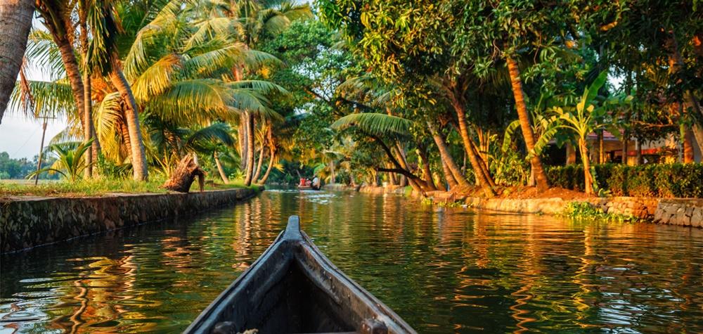 Kerala Village from a canoe